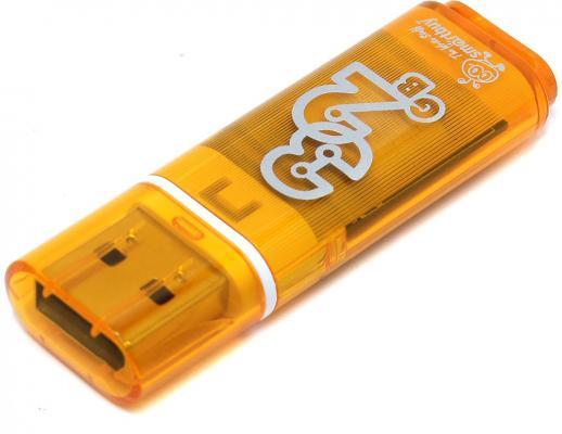 Фото - Флешка 32Gb Smart Buy Glossy USB 2.0 оранжевый SB32GBGS-Or флешка 32gb smart buy crown usb 3 0 синий sb32gbcrw bl