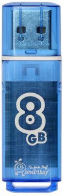 Флешка 8Gb Smart Buy Glossy USB 2.0 синий SB8GBGS-B цена и фото