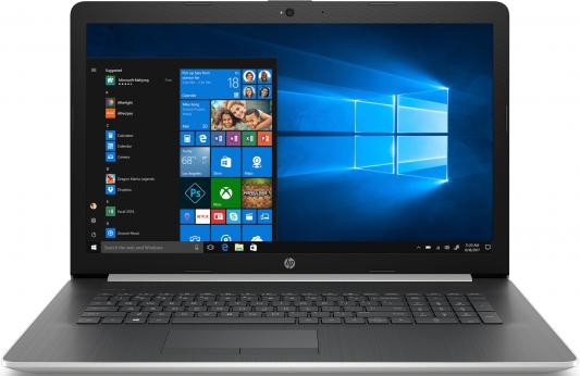 Ноутбук HP17 17-by1016ur 17.3 HD+, Intel Core i7-8565U, 8Gb, 1Tb + 128Gb SSD, DVD-RW, AMD R530 4Gb, Win10, серебристый ого pc home3d intel core i7 7700 3 60ghz 8gb 1tb 2048mb nvidia gtx 1050 dvd rw wi fi usb 3 0 600w win10 home 64bit