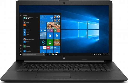 Ноутбук HP17 17-by0173ur 17.3 HD+, Intel Core i3-7020U, 4Gb, 500Gb, DVD-RW, Win10, черный ого pc office intel core i5 8400 2 80ghz 4gb 500gb dvd rw 450w