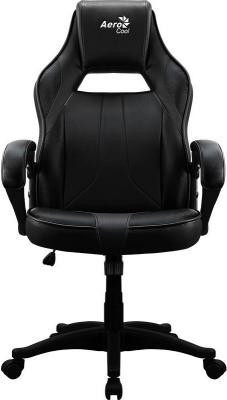 """купить Кресло для геймера Aerocool AC40C AIR All Black , черное, до 150 кг, ШxДxВ : 64x67x111-119см, газлифт класс 3 до 100 мм, механизм """"Бабочка"""" по цене 6310 рублей"""