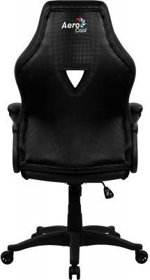 """купить Кресло для геймера Aerocool AC50C AIR All Black , черное, до 125 кг, ШxДxВ : 65x67.5x108-116см, газлифт класс 4 до 100 мм, механизм """"Бабочка"""" по цене 6650 рублей"""