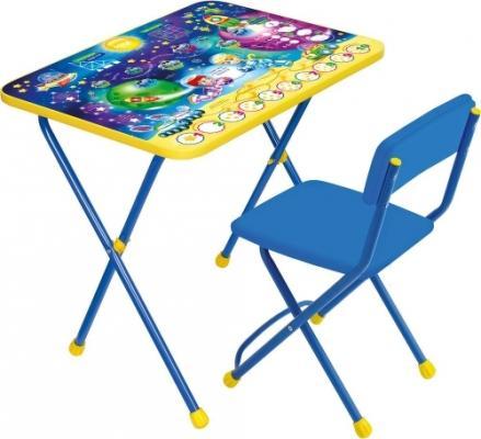 КОМПЛЕКТ ДЕТСКИЙ ПОЗНАЙКА МАТЕМАТИКА В КОСМОСЕ СТОЛ H=58 СМ + СТУЛ (МЯГК. СИДЕНЬЕ) КП2/8 наборы детской мебели ника познайка кп2 хочу все знать