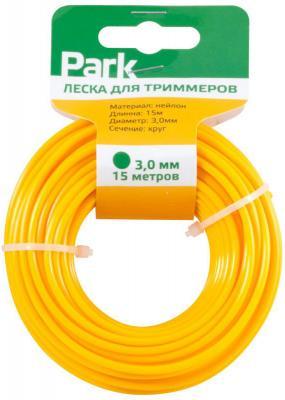 ЛЕСКА ДЛЯ ТРИММЕРА 3,0 ММ 15 М (1/35) PARK леска для триммера rezer twistop 2 4 мм 15 м эллипс
