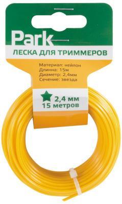 ЛЕСКА ДЛЯ ТРИММЕРА 2,4 ММ 15 М ЗВЕЗДА (1/45) PARK леска для триммера rezer twistop 2 4 мм 15 м эллипс