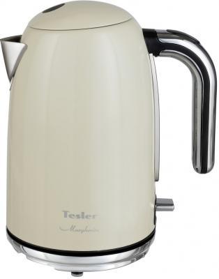 Чайник TESLER KT-1755 BEIGE, 2000 Вт., 1,7 л., нерж. сталь, бежевый