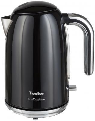 Чайник электрический TESLER KT-1755 2000 Вт чёрный 1.7 л нержавеющая сталь чайник электрический tesler kt 1755 sky blue
