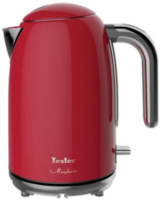 Чайник электрический TESLER KT-1755 2000 Вт красный 1.7 л нержавеющая сталь