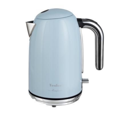 Чайник TESLER KT-1755 SKY BLUE, 2000 Вт., 1,7 л., нерж. сталь, голубой чайник электрический tesler kt 1755 sky blue