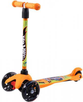 Самокат Hot Wheels (Mattel) HW4PY1 120/80 мм оранжевый самокат 3 х колесный next mattel hot wheels st alu 2rw hw