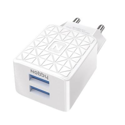 Сетевое зарядное устройство Nobby Practic 2.1A белый NBP-TC-21-02 зарядное устройство nobby practic 6000mah white