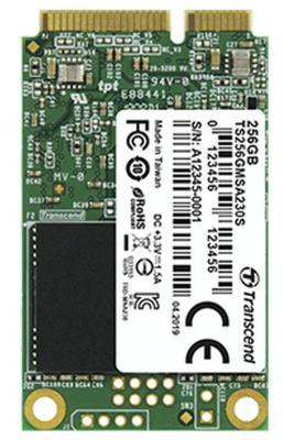 Твердотельный диск 256GB Transcend MSA230S, mSATA, SATA III, 3D TLC [R/W - 560/500 MB/s] твердотельный диск 240gb a data ultimate su630 2 5 sata iii [r w 520 450 mb s] 3d qlc