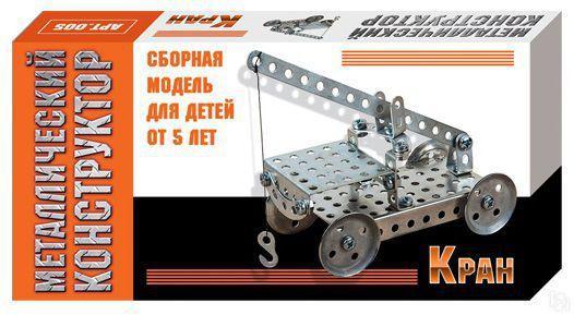 Металлический конструктор Кран, 14 деталей, в/к 16*8*2,5 см