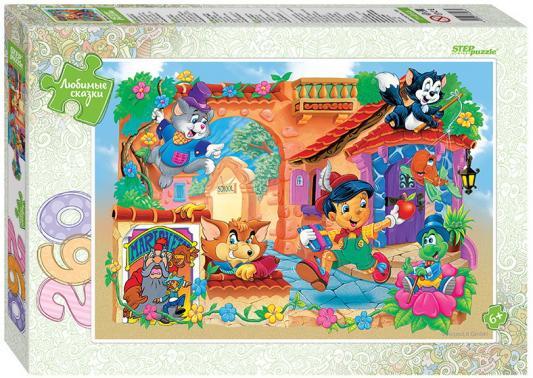 """лучшая цена Мозаика """"puzzle"""" 260 """"Буратино"""" (Любимые сказки) 28*19*3,4"""