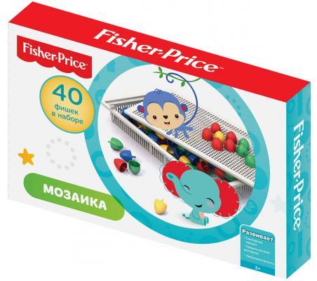 Настольная мозаика Фишер Прайс (40 фишек диам.20 мм)295*190*45 детские игрушки фишер прайс