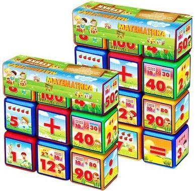 Купить Набор кубиков Математика 9эл (21шт) 17*6*17, best toys, Кубики и стенки
