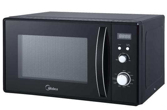 лучшая цена Микроволновая печь Midea AM823AM9-B 800 Вт чёрный
