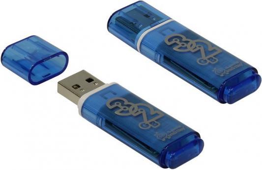 Фото - Флешка 32Gb Smart Buy Glossy USB 2.0 синий SB32GBGS-B флешка 32gb smart buy crown usb 3 0 синий sb32gbcrw bl