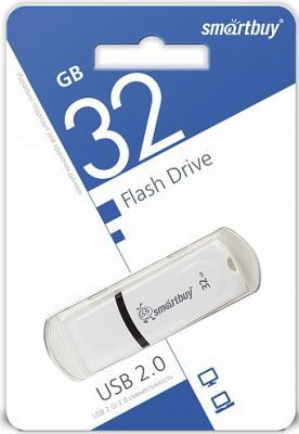 Флешка 32Gb Smart Buy Paean USB 2.0 белый SB32GBPN-W флешка 16gb smart buy paean usb 2 0 белый sb16gbpn w