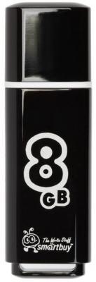Фото - Флешка 8Gb Smart Buy Glossy USB 2.0 черный SB8GBGS-K флешка 32gb smart buy crown usb 3 0 синий sb32gbcrw bl