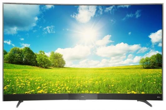"Телевизор LED TCL 55"" L55P3CUS стальной/CURVED/Ultra HD/60Hz/DVB-T/DVB-T2/DVB-C/DVB-S/DVB-S2/USB/WiFi/Smart TV (RUS)"