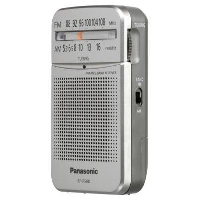 Фото - Радиоприемник карманный Panasonic RF-P50DEG-S серебристый карманный радиоприемник panasonic rf p50deg