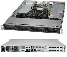 Корпус SuperMicro CSE-815TQC-R504WB 1U корпус для сервера 1u 400w cse 515 r407 supermicro
