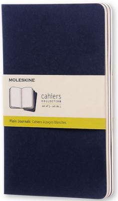 Блокнот Moleskine CAHIER JOURNAL CH218 Large 130х210мм обложка картон 80стр. нелинованный синий индиго (3шт) блокнот moleskine cahier journal large 130х210мм обложка картон 80стр линейка бежевый 3шт [qp416]