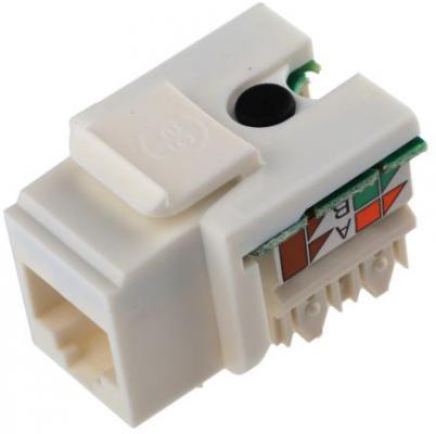 Модуль Brand-Rex GPCJAKU013 информационный KeystoneRJ45 кат.5E бел. (упак.:1шт)