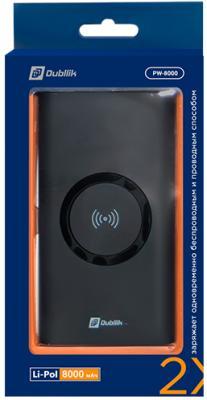 Внешний аккумулятор Power Bank 8000 мАч GAL PW-8000 черный внешний аккумулятор power bank 8000 мач hiper sx8000 белый