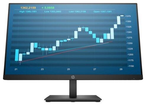 Монитор 23.8 HP ProDisplay P244 черный IPS 1920x1080 250 cd/m^2 5 ms HDMI DisplayPort VGA 5QG35AA монитор asus vp249h черный ips 1920x1080 250 cd m^2 5 ms hdmi vga