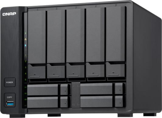 SMB QNAP TS-963X-8G 9-Bay NAS, AMD GX-420MC 4-core 2.0GHz, 8 GB DDR3L (1x 8 GB) up to 16 GB (2 x 8 GB), 5 x 3.5 and 4 x 2.5 drive slots, 1 x 10GbE 10GBASE-T 1 x GbE LAN цена