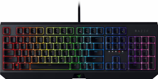 цена на Клавиатура проводная Razer Blackwidow - Mechanical Gaming Keyboard - Russian Layout (Green Switch) USB черный