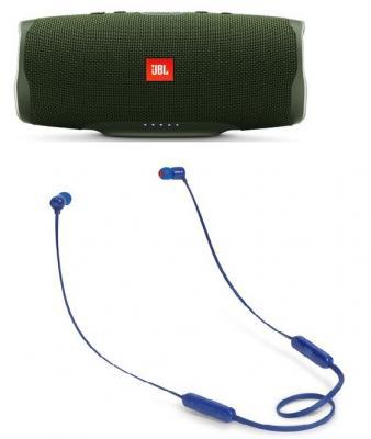 Портативная акустика JBL Charge 4 + наушники T110BT зеленый JBLCHARGE4GRN/JBLT110BTBLU портативная акустика jbl charge 2 plus black
