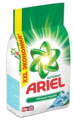 Стиральный порошок ARIEL Горный родник 6кг жидкий стиральный порошок ariel для чувствительной кожи 1 3 л