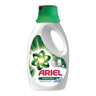 """Средство для стирки жидкое автомат 1,3 л, ARIEL (Ариэль) """"Горный родник"""", гель, концентрат цены онлайн"""