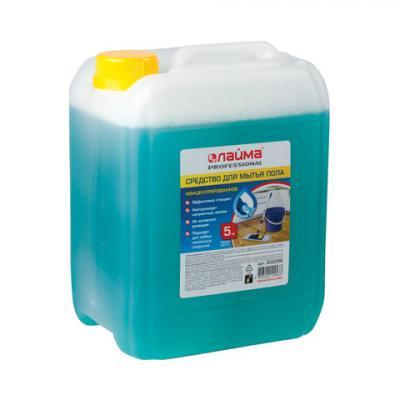 Средство для мытья пола 5 кг, ЛАЙМА PROFESSIONAL концентрат, Морской бриз, 602296 средство для мытья пола лайма professional лимон концентрат 1 л