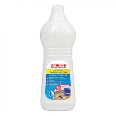 Средство для мытья пола 1 кг, ЛАЙМА PROFESSIONAL концентрат, Морской бриз, 602297 средство для мытья пола лайма professional лимон концентрат 1 л