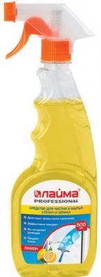 Средство для мытья стекол и зеркал 500 мл, ЛАЙМА PROFESSIONAL Лимон, распылитель, 604652 средство для мытья стекол и зеркал 500 мл synergetic c антибактериальным эффектом биоразлагаемое распылитель 107052