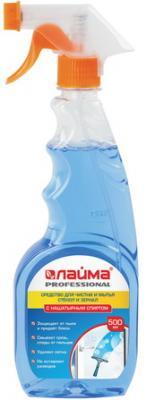 Фото - Средство для мытья стекол и зеркал с нашатырным спиртом 500 мл, ЛАЙМА PROFESSIONAL, распылитель, 604744 средство для стекол sanita со спиртом 1968 500 мл