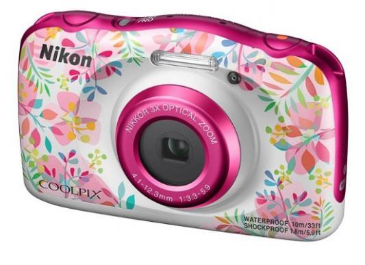 "Фотоаппарат Nikon Coolpix W150 Flower Backpack KIT <13.2Mp, 3x zoom, 2.7"", SDXC, Влагозащитная, Ударопрочная> (водонепроницаемый 10 метров)"