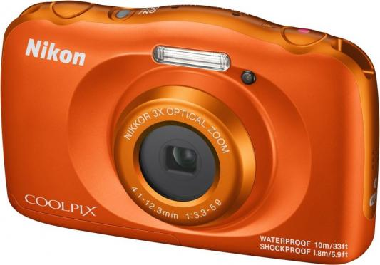 "Фотоаппарат Nikon Coolpix W150 Orange Backpack KIT <13.2Mp, 3x zoom, 2.7"", SDXC, Влагозащитная, Ударопрочная> (водонепроницаемый 10 метров)"