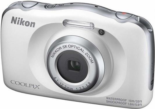 Фотоаппарат Nikon Coolpix W150 White Backpack KIT <13.2Mp, 3x zoom, 2.7, SDXC, Влагозащитная, Ударопрочная> (водонепроницаемый 10 метров)