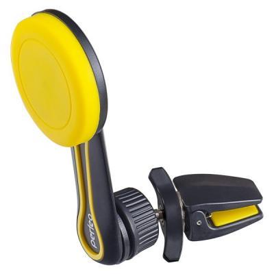 Perfeo-532 Автодержатель для смартфона до 6,5/ на воздуховод/ магнитный/ поворотный/ черный+желтый (PF_A4345) автодержатель