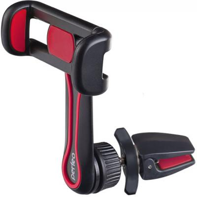 Perfeo-534-2 Автодержатель для смартфона до 6,5/ на воздуховод/ раздвижной/ поворотный/ черн+красн (PF_A4350) автодержатель