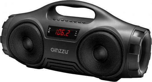 Ginzzu GM-876B Портативная Bluetooth™ стерео колонка (2х8Вт, LED дисплей, 90Гц-18КГц, 1800мАч, AUX, USB-flash, FM-радио, Subwoofer, Handsfree, цена