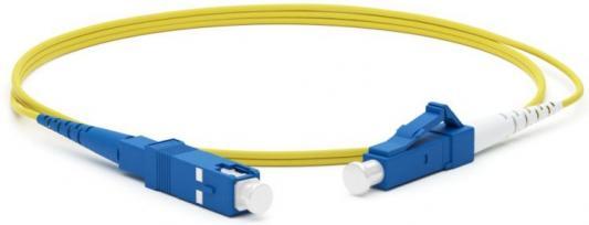 Hyperline FC-S2-9-LC/UR-LC/UR-H-1M-LSZH-YL Патч-корд волоконно-оптический (шнур) SM 9/125 (OS2), LC/UPC-LC/UPC, 2.0 мм, simplex, LSZH, 1 м шнур плетеный projig x8 long cast 0 12 мм 9 кг 100 м