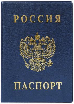 """Обложка """"Паспорт России"""", вертикальная, ПВХ, цвет синий, """"ДПС"""", 2203.В-101"""