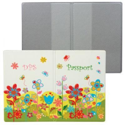 """Обложка для паспорта """"Твой стиль - Цветы"""", вертикальная, кожзаменитель, """"ДПС"""", 2203.Т5"""