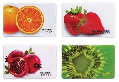 Обложка для пластиковых карт ДПС Фрукты ассорти